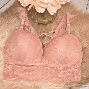 VS Pink | Blush Lace Bralette NWOT 34DD